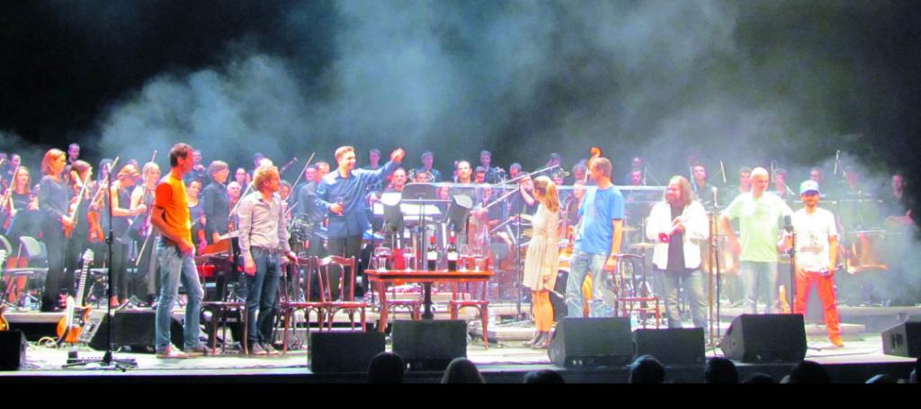 Sonoton Orchester zusammen mit Peufla Rock Band